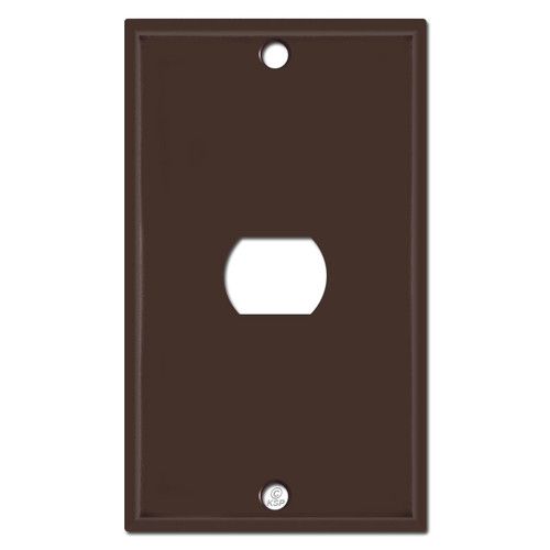 Single Despard Switch Cover - Brown