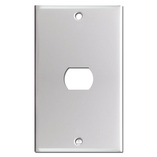 One Despard Interchangeable Switch Plate - Brushed Aluminum