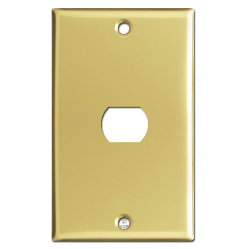 1 Despard Light Switch Plate - Polished Brass