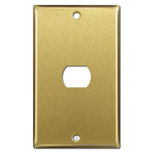Single Despard Switch Plate Cover - Satin Brass