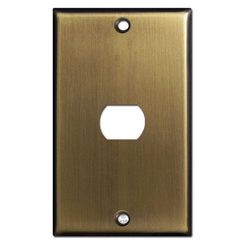 One Despard Light Switch Cover Plate - Antique Brass
