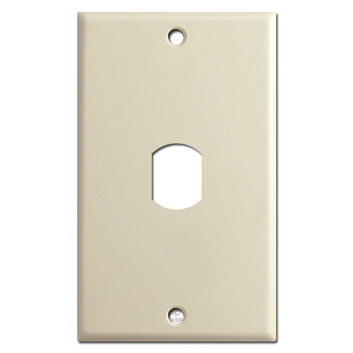 One Vertical Despard Interchangeable Switchplate - Ivory