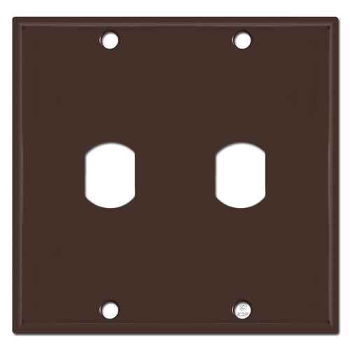 2 Gang Vertical Single Despard Light Switch Cover - Brown