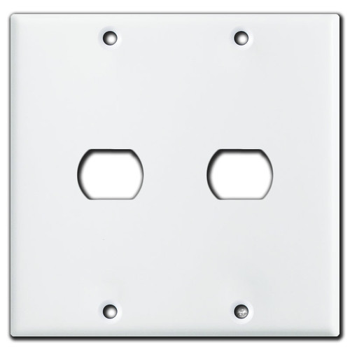 2 Gang 1 Despard Light Switch Plate - White