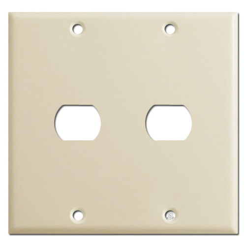 Double 1 Despard Wall Switch Plate - Ivory
