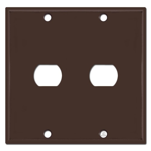 Two Gang One Despard Light Switch Wall Plate - Brown