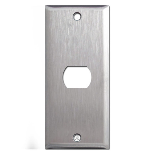 "2"" Narrow 1 Light Despard Switch Plates - Spec Grade Stainless Steel"