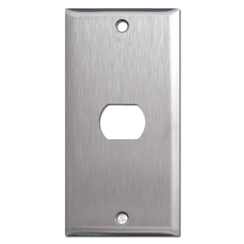 "2.25"" Skinny Despard Wall Switch Plates - Satin Stainless Steel"