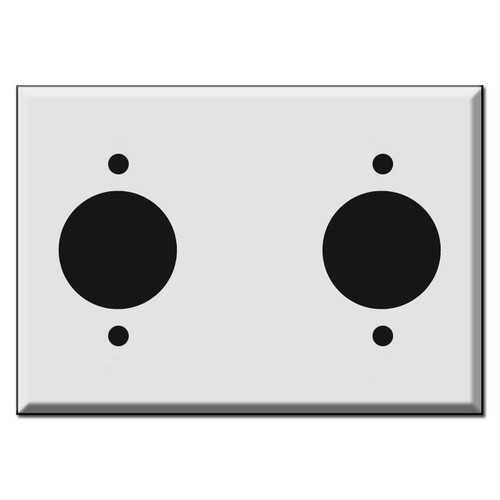 Three Gang Two 20A Power Outlet Cover Plates for 1.62'' Receptacles