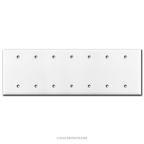 7 Blank Light Switch Plate Cover - White