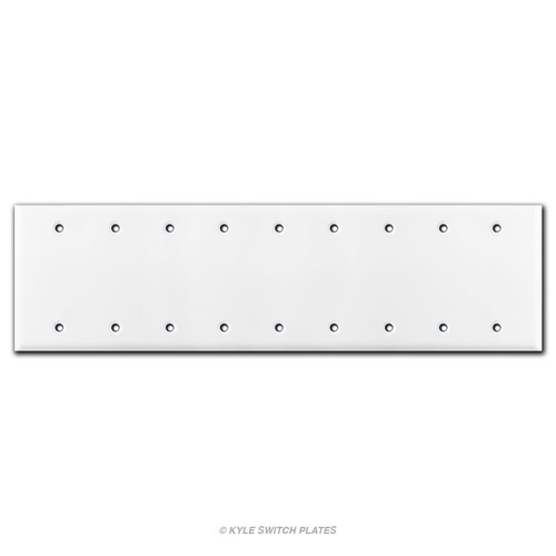 9 Blank Switch Wall Plate Cover - White