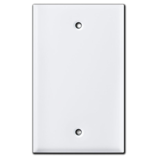 1 Blank Switch Plates - White