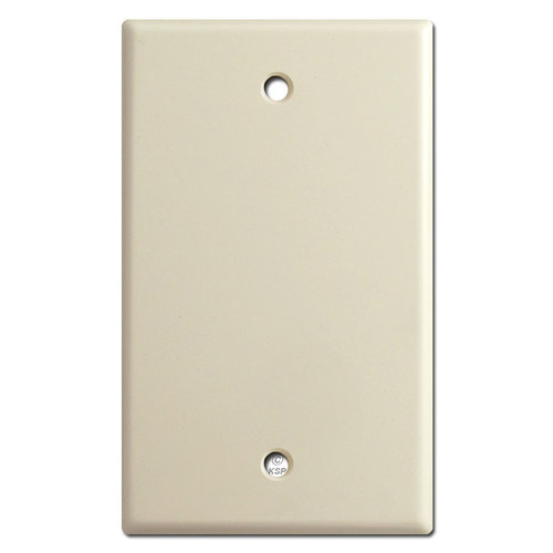 Single Gang Blank Wall Switch Plate - Ivory
