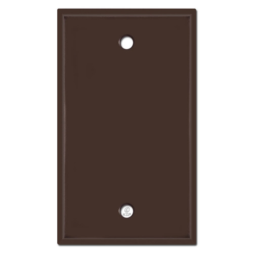 1 Gang Blank Light Switch Plates - Brown