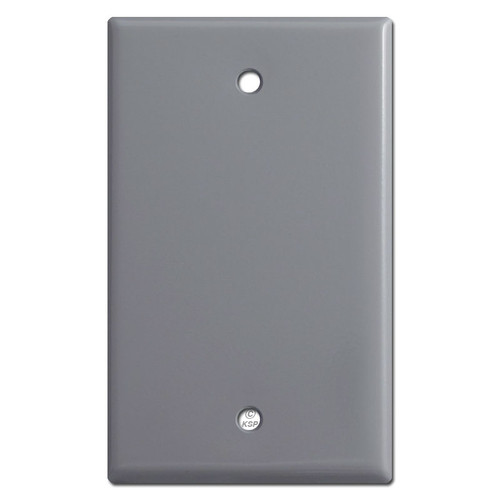 Single Gang Blank Light Switch Plate - Gray