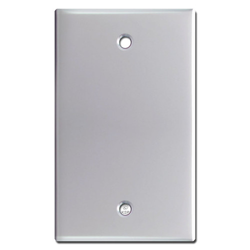 1 Blank Light Switch Covers - Polished Chrome