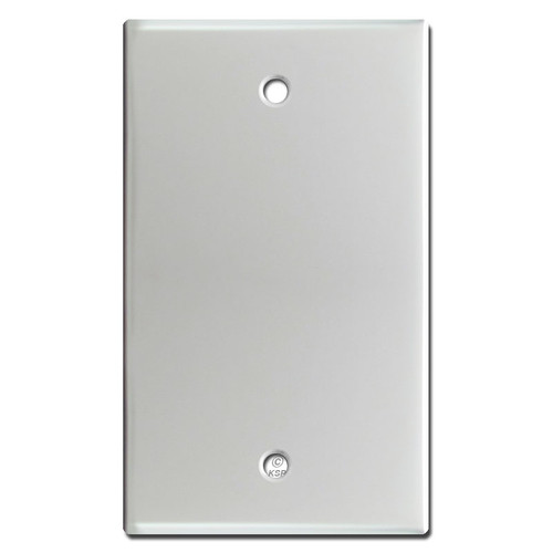 One Blank Light Switch Plates - Brushed Aluminum