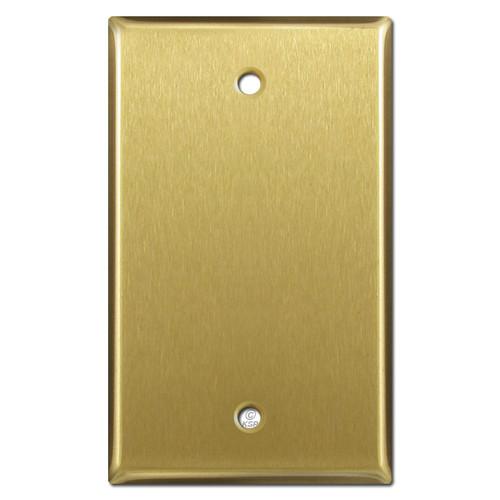 One Gang Blank Light Switch Wall Plates - Satin Brass