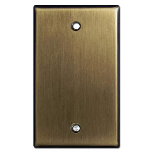 Single Blank Switchplate - Antique Brass