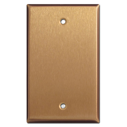 One Gang Blank Switch Wall Plate - Satin Bronze