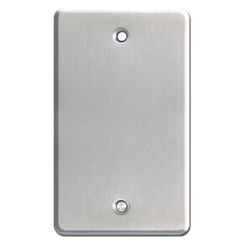 Extra Deep 1 Blank Electrical Wall Plates - Satin Stainless Steel