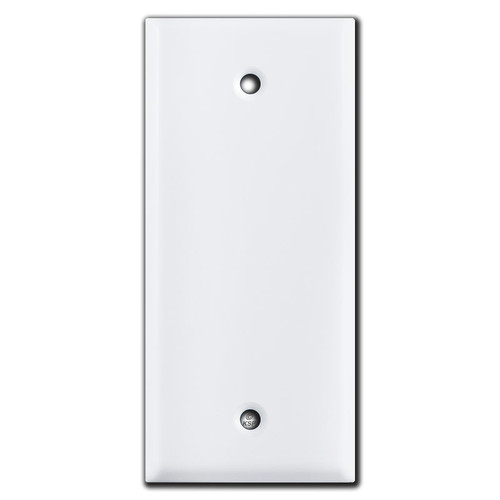 Narrow 2 Inch Wide Blank Switchplate - White