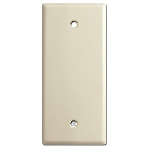 "Skinny 2"" Wide Blank Wall Switch Plate - Ivory"