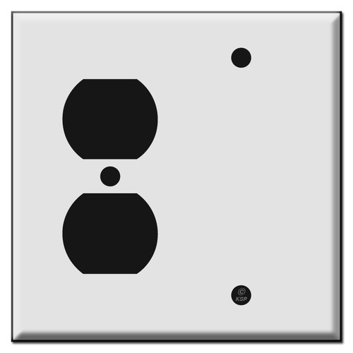 Outlet and Blank Combination Switch Plate Covers