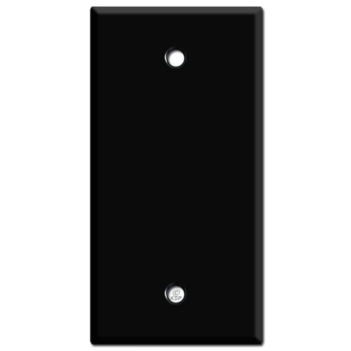 "2.25"" Narrow Blank Wall Switch Plate - Black"