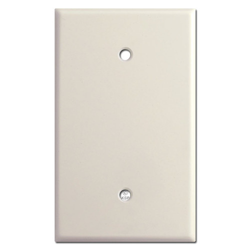 Oversized One Blank Wall Switch Plate Cover - Light Almond