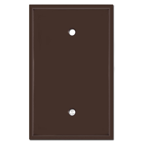 Oversized One Blank Light Switch Plate Cover - Brown