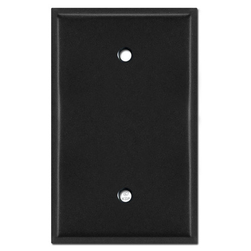 Oversized 1 Blank Jumbo Switch Plate - Black