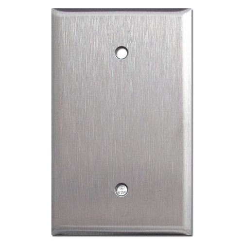 Jumbo Blank Switch Cover - Spec Grade Stainless Steel