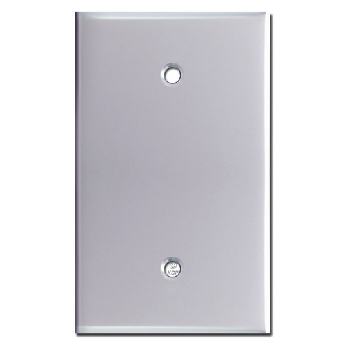 Oversized 1 Blank Switch Jumbo Wall Plate Cover - Polished Chrome