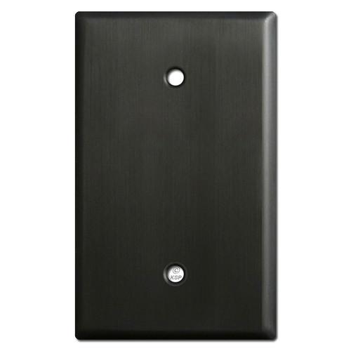 Oversized 1 Blank Light Switch Covers - Dark Bronze