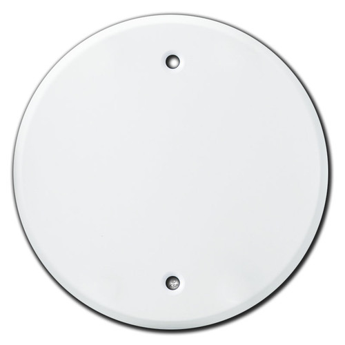 """Round Blank Ceiling Outlet Cover for 4"""" Electrical Box - White"""