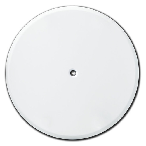 Round Ceiling Box Wall Switch Plates with Center Screw Hole - White