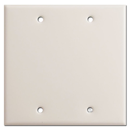 Double Blank Wall Plate - Light Almond