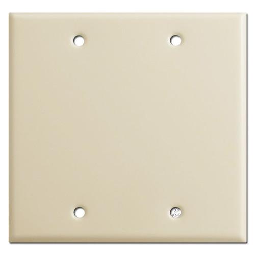 2 Gang Blank Wall Plates - Ivory