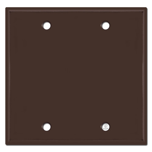 2 Blank Wall Plate Covers - Brown