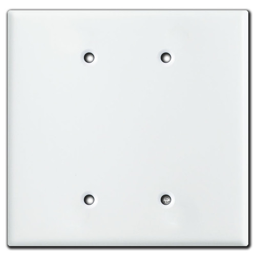 Oversized 2 Blank Jumbo Switch Plate Covers - White