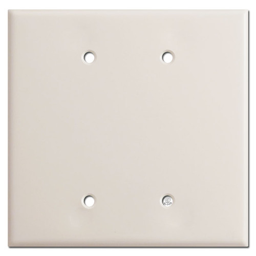 Oversized 2 Blank Switch Plate Covers - Light Almond