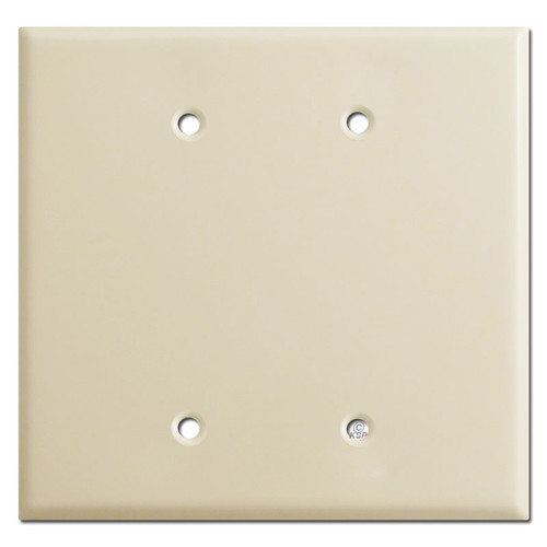 Oversized Double Blank Jumbo Switch Plates - Ivory