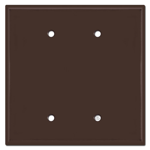 Oversized 2 Blank Jumbo Switch Plate Cover - Brown