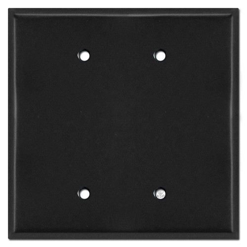Oversized 2 Gang Blank Jumbo Wall Plate Covers - Black