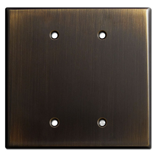 Oversized 2 Blank Jumbo Switchplates - Oil Rubbed Bronze
