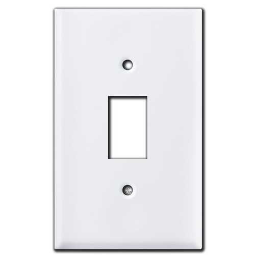 Low Voltage GE Bracket Mount Wall Plate for 1 GE Light Switch - White