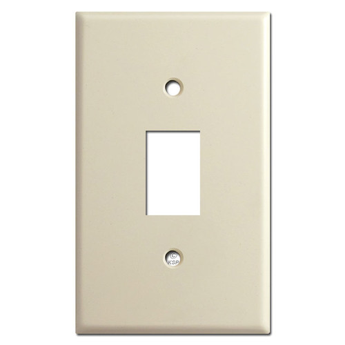 Low Voltage Bracket Mount Switch Plates for One GE Switch - Ivory