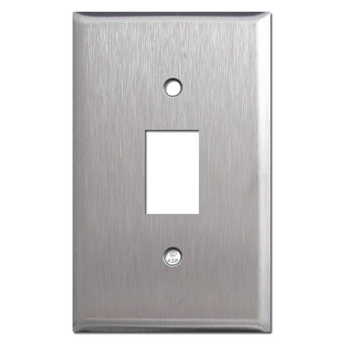 Low Voltage Bracket Mount Wall Plate for 1 GE Switch - Stainless Steel