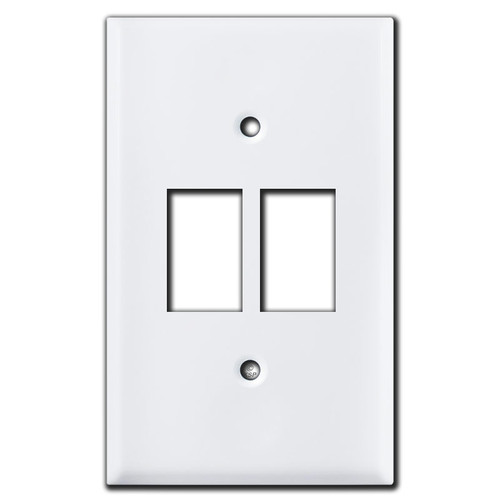 Bracket Mount Switch Plates for 2 GE Low Voltage Switches - White